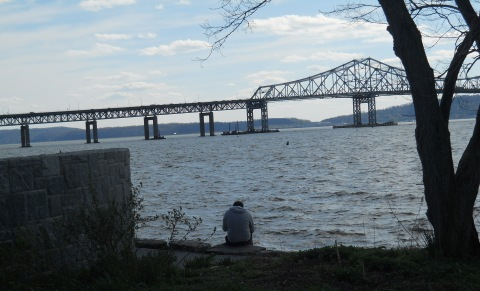 "Spring after the project started: ""Figure Sitting at RiverWalk Park""/© Janie Rosman 2013"