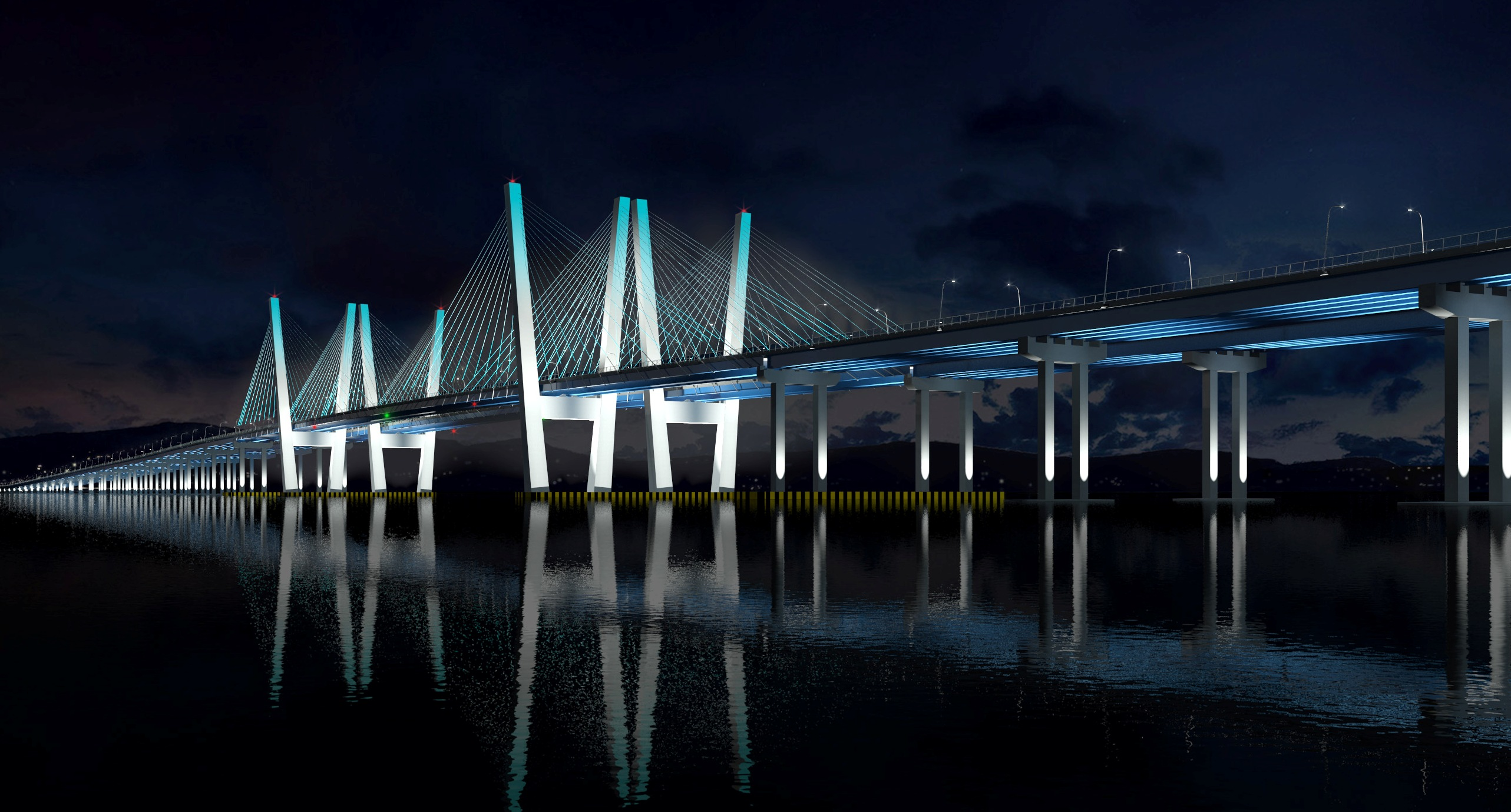 bridge architecture night - photo #32