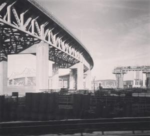 Tappan Zee Bridge and its replacement on the right/nysom
