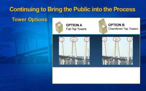 How the bridge would look with each option courtesy of the New NY Bridge