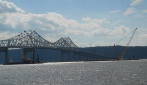 Local Notice to Mariners warns of floating construction equipment during the bridge replacement project.