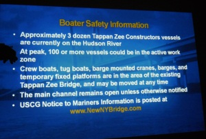 Boater safety information from the New NY Bridge/Courtesy of the New York State Thruway Authority