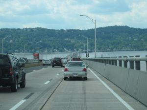 Westbound on the Tappan Zee Bridge, circa July 2008/Courtesy of Ian C. Ligget