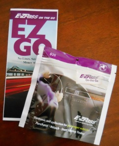 E-ZPass tag and brochure