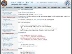 USCG home page