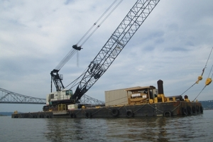 One of the barges near the Tappan Zee Bridge/Courtesy of Alexa Brandenberg (alexabrandenberg.com)
