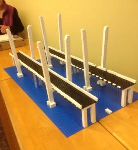 Mother Nature's tricks were no match for the LEGO® Build Club/Courtesy of Team Outreach New NY Bridge