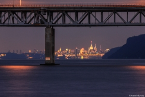 Manhattan skyline at night from the TZB/© Antonio Rivera
