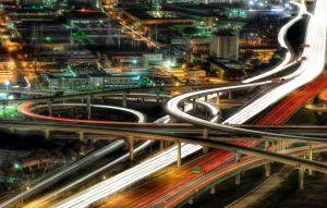 The I-35E and I-30 downtown Dallas Mix-master/Cliff Baise