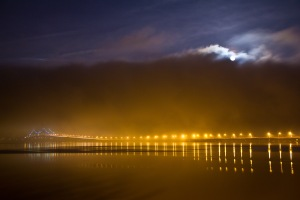 Foggy night, Tappan Zee Bridge/ ©2011 Ali Perretz