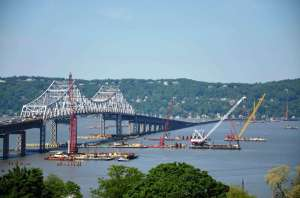 Busy river/EarthCam® construction camera in Tarrytown