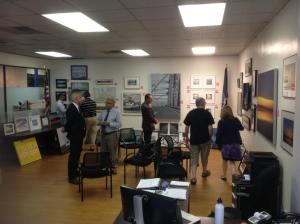 Visual Quality Panel reviewing entries Thursday night at the Nyack Outreach Center/New NY Bridge Outreach
