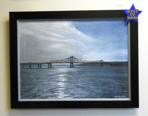 "Painting: ""Farewell Old Tappan Zee Bridge""/© Janie Rosman"