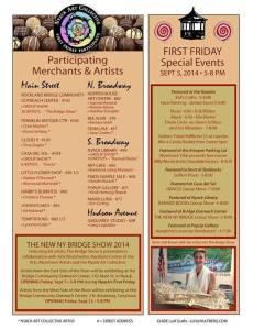 First Friday Nyack September 2014 schedule