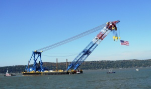 Massive crane has a 328-foot boom/© Janie Rosman 2014