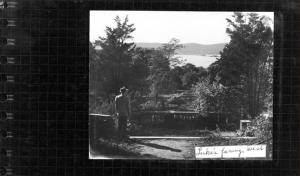 Minotti's father, Pasquale Minotti, caretaker of the Luke estate, looking toward the river/Virtual Archives