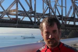 Technology teacher Jacob Tanenbaum and the super crane