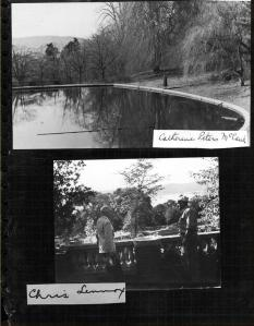 Pond, upper photo, and Pasquale Minotti at Luke Estate, lower photo/Virtual Archives