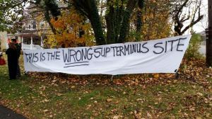 Not In My Backyard: South Nyack Residents protest the terminus that will end in their neighborhood/John Cameron