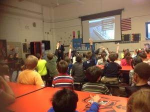Kids ask engaging questions after seeing the video that makes education and learning come alive/NNYB Outreach