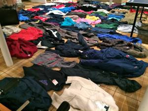 November clothing drive at Hackley School in Tarrytown will keep many warm this winter/Photo credit: Kids' Club