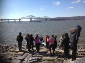 Pretty day for observing the river activity/NNYB Outreach