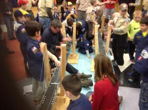 It takes teamwork to build a bridge, whether on the Hudson River or here with your Cub Scout friends/NNYB Outreach