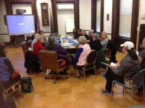C2 members meet each month to discuss how they can effectively meet their community's needs/NNYB Outreach