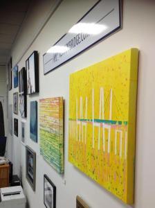 Bridge art adorns the walls/NNYB Outreach