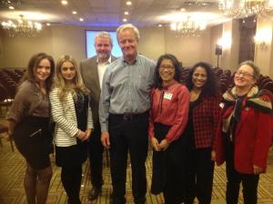 Members of PMI NYC with keynote speaker/NNYB Outreach