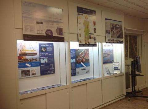 """In Tarrytown: new """"Project at a Glance"""" and """"Safety Sam"""" info panels/NNYB Outreach"""
