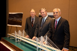 Walter Riechert, Tappan Zee Constructors, LLC, Thomas J. Madison, Jr., Executive Director, NYS Thruway Authority, Brian Conybeare, Special Project Advisor./Photo: NYSTA