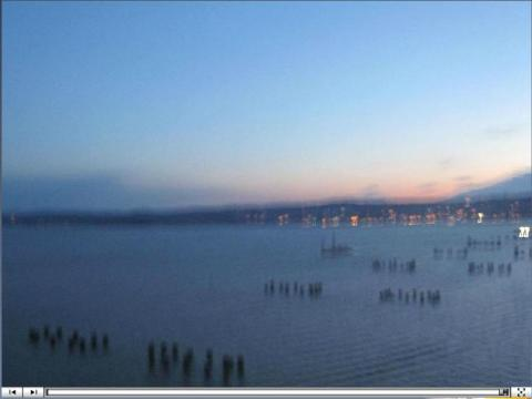 Wind shaking an EarthCam® construction camera yesterday morning (main span view)