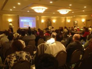 Thruway Authority Project Director Peter Sanderson speaks  to PMI Westchester members in Mt. Kisco/NNYB Outreach