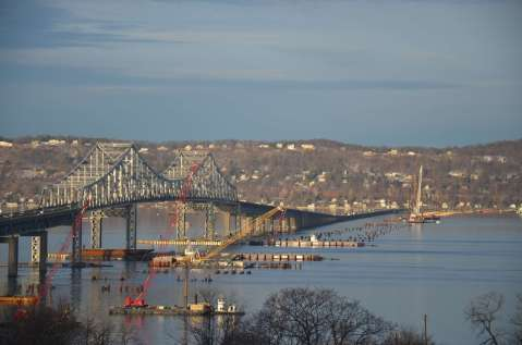 Sun's up, and no ice! Pretty view from the Westchester EarthCam® construction camera