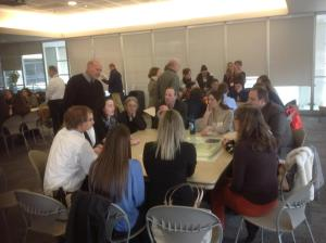 Talking with mentors after presentations/NNYB Outreach
