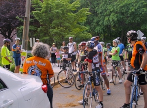 Bicyclists gather prior to the 2013 Ride of Silence/RBC