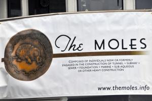Destination is New NY Bridge construction site/The Moles