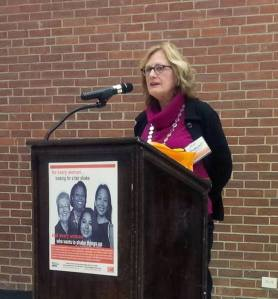 AAUW-Westchester's Jane Pendergast was honored in 2013 at the  YWCA of White Plains/AAUW Westchester