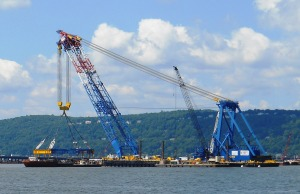 I Lift NY w/blue platform made by County Fabricators, LLC