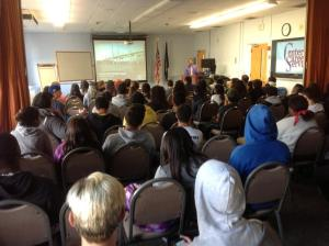 Students learn about various careers on the project/NNYB