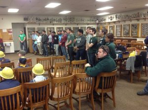 College students were tour guides for the scouts/NNYB