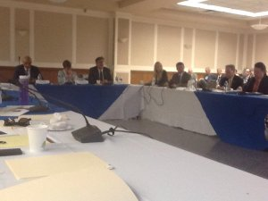 Thruway Authority Executive Director Robert L. Megna at June 2015 transit task force meeting in Orangeburg/NNYB