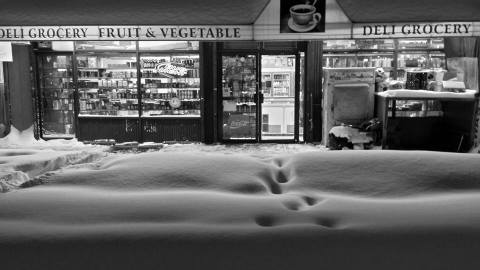 Winter Storm Jonas: welcome sight to find stores that stayed open/Credit Frank LoBuono
