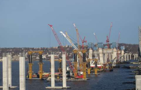 The last main span crossbeam will be placed next week/EarthCam® construction camera