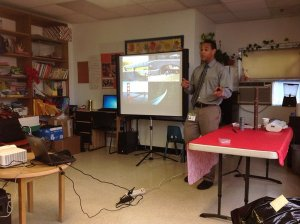 Community Relations Specialist Daniel Marcy spoke with the kids about bridges and what it takes to build them/NNYB