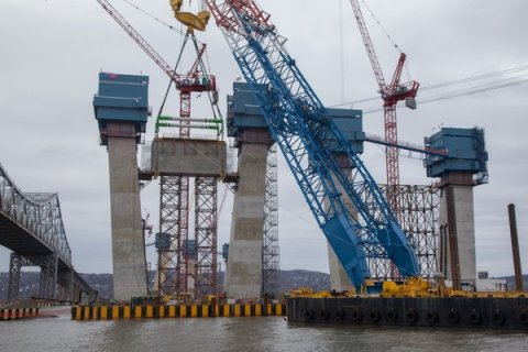 Now the towers are past their halfway point to 419-feet, nearing bridge's height/NYSTA