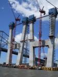main span towers