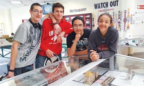 Students from P-TECH program at their school's recent atrium display/submitted photo