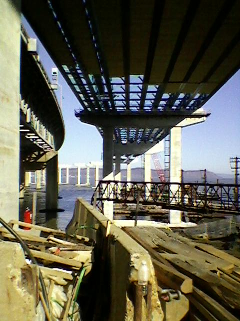 Cool early morning view: underbelly of span we'll be driving on next spring/Submitted
